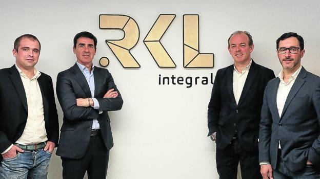 Los socios fundadores de RKL Iñaki Eguía, Imanol Pombar, Álvaro Ubierna y José María Sanz. / RKL