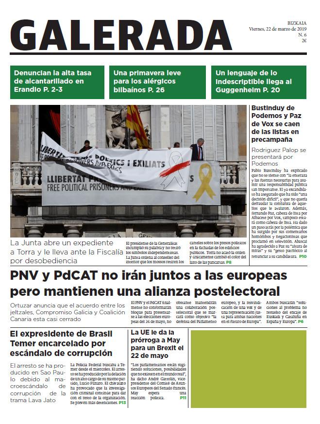 Galerada: periódico del 22 de marzo de 2019