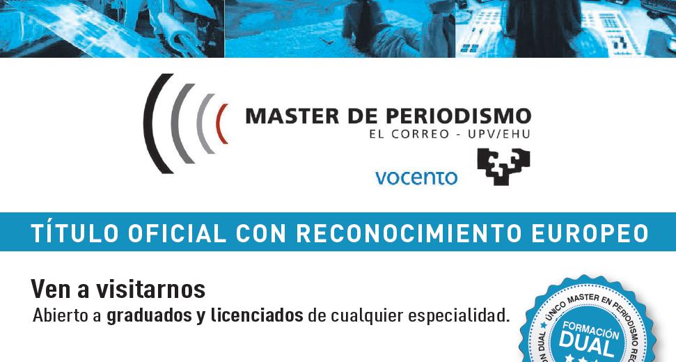 Master de periodismo 2019 - 2020
