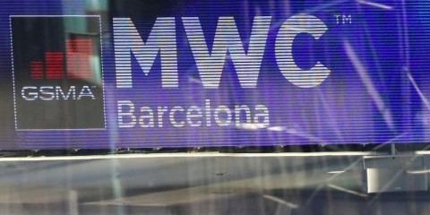 The Logo of MWC20 (Mobile World Congress) is pictured in Barcelona, Spain February 10, 2020. REUTERS/Nacho Doce