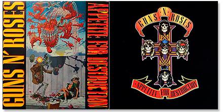 Guns N' Roses - Curiosidades 'Appetite for destruction'