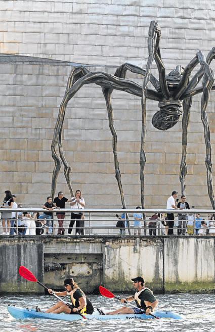 El Guggenheim también fue testigo del BBKayak.
