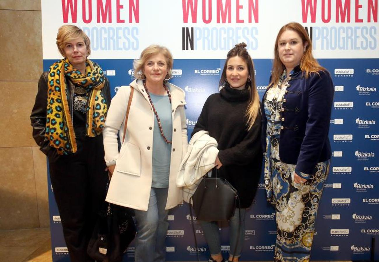 Olatz Basagoiti, Nekane Aróstegui, Ana Lorente y Montse Pascual.