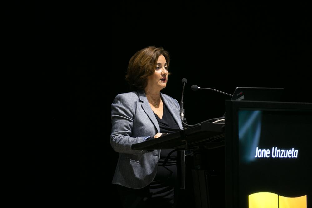 Jone Unzueta, concejala delegada del Área de Participación Ciudadana y Distritos y concejala delegada adjunta de Educación en el Ayuntamiento de Bilbao