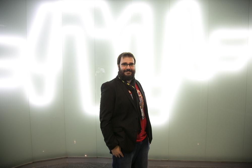 Jordi de Paco, CEO, programador, guionista y game designer en Deconstructeam, en el Iberdrola Talent Day