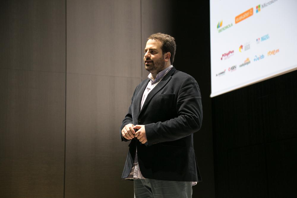 Pepe Arcas, Fundador y Gerente de Umami Games, fundador de iDÉAME y antiguo assistant Marketing Manager en Nintendo, en el en el Iberdrola Talent Day
