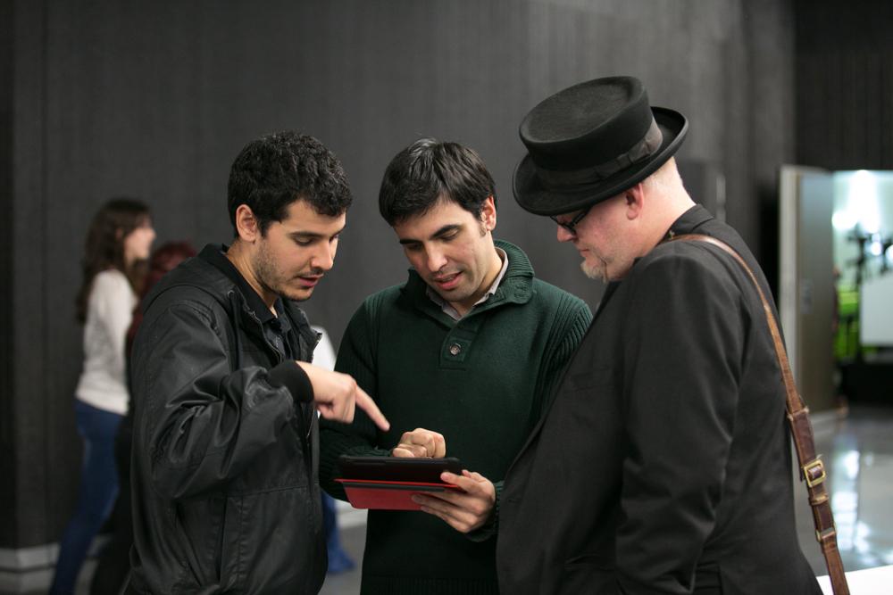 Oscar Clark con algunos de los asistentes al Iberdrola Talent Day