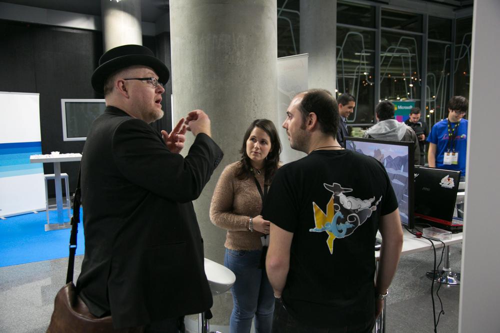 Oscar Clark con algunos asistentes al Iberdrola Talent Day