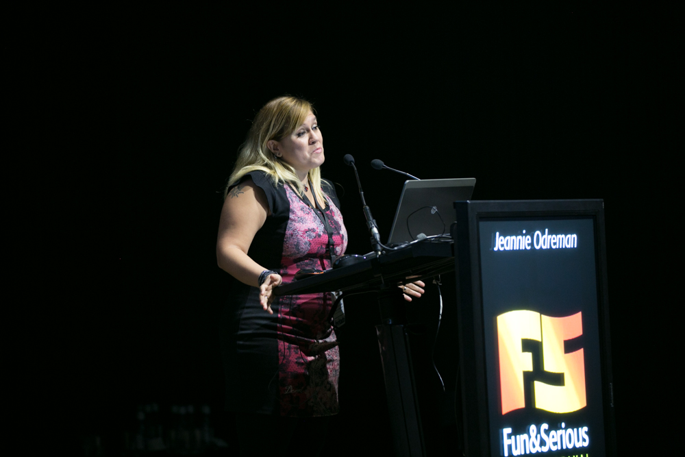 Jeannie Odreman, brand Manager en Ubisoft Barcelona Mobile en la jornada BBVA Mobile Game Day