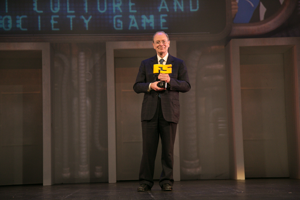 Ibon Areso, alcalde de Bilbao en la gala de entrega de premios a los Mejores Videojuegos 2014