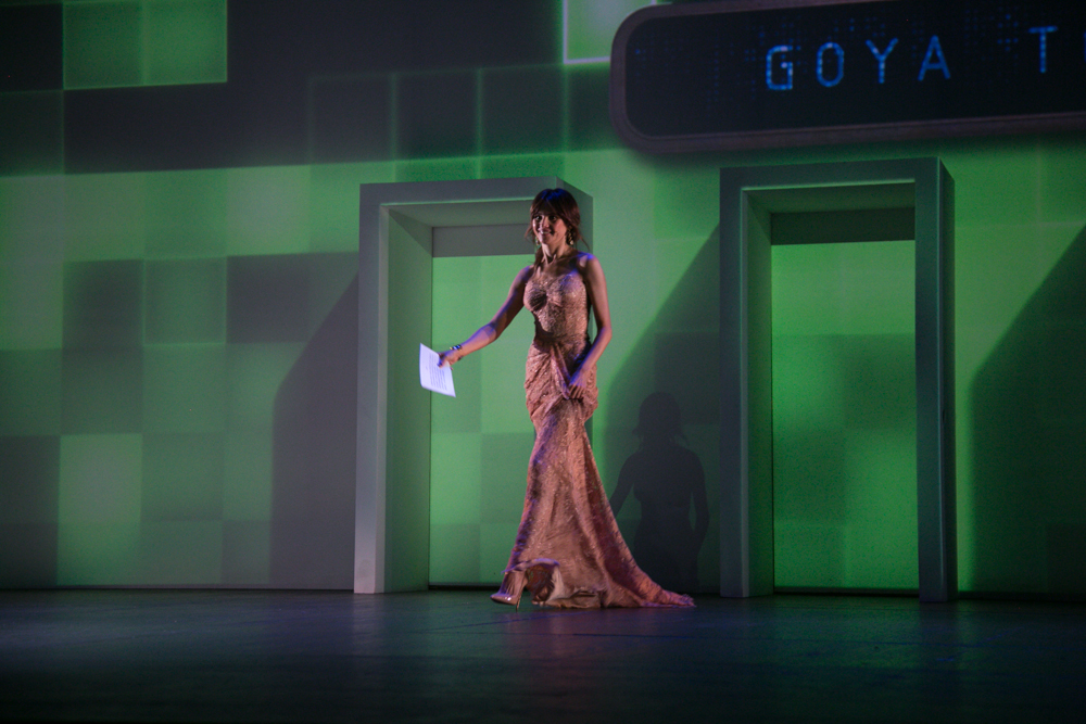 Goya Toledo, en la Gala de entrega de premios a los Mejores Videojuegos 2014