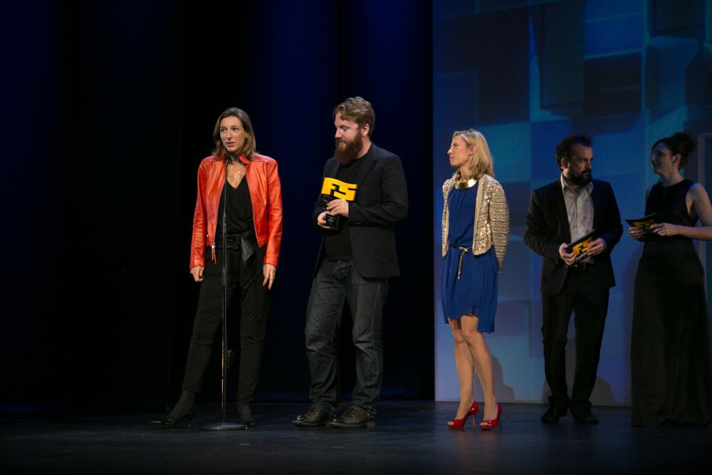 Mejor videojuego infantil/social 'Just Dance 2015'. Matthew Tomkinson, director del juego de Ubisoft en la gala de entrega de premios a los Mejores Videojuegos 2014