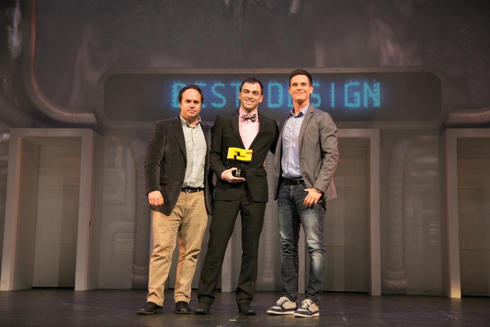 Mejor diseño 'Assassin's Creed: Unity'. Philippe Ducharme, productor del título de Ubisoft en la gala de entrega de premios a los Mejores Videojuegos 2014