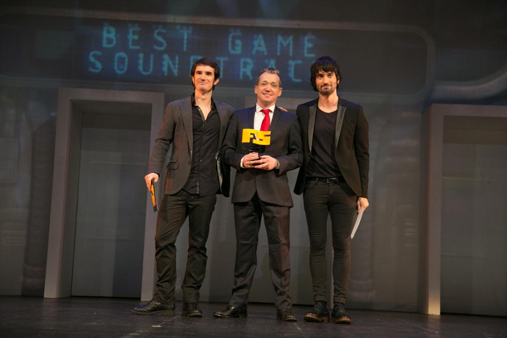 Mejor banda sonora y juego de terror 'Alien: Isolation'. Gareth Ramsey, director de comunicación de The Creative Assembly en la gala de entrega de premios a los Mejores Videojuegos 2014