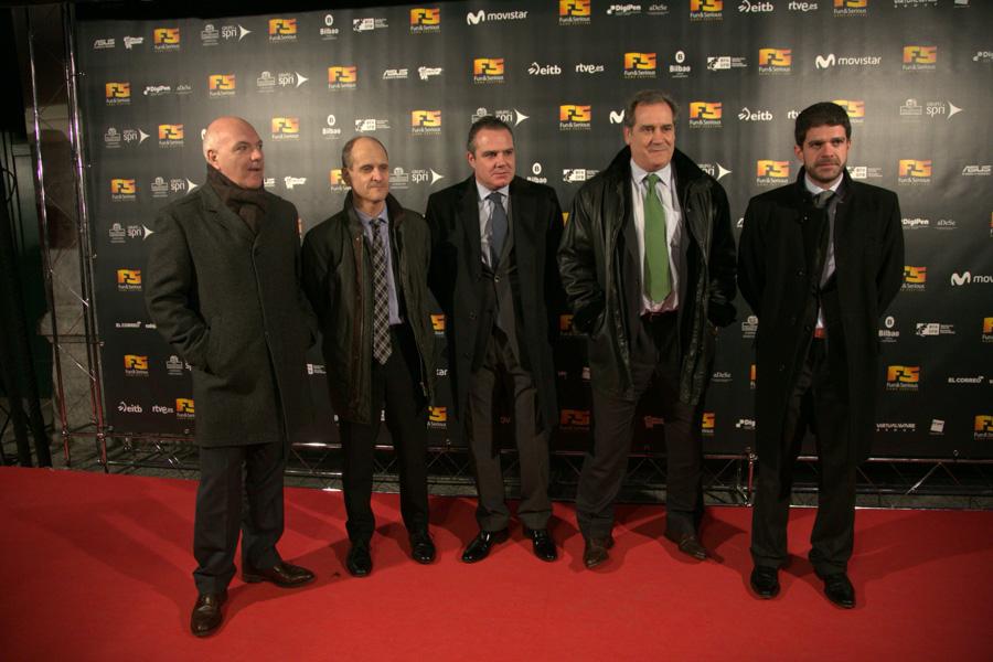 Alberto Méndez, Javier Portuondo, Aitor Cobanera, Javier Zalbidea y Javier Doval