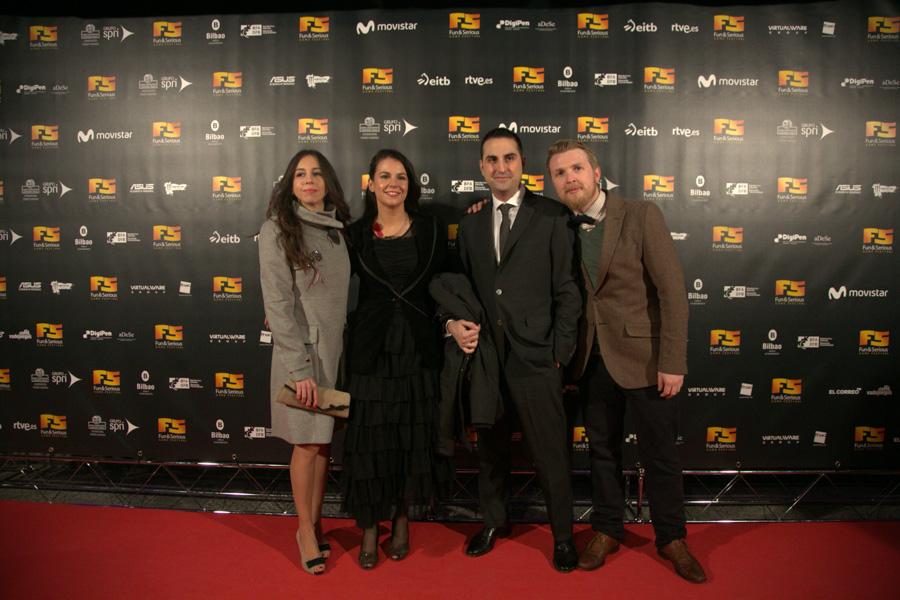 Raquel García, Silvia Cabrera, David Gómez y Greg Weller de Rockstar