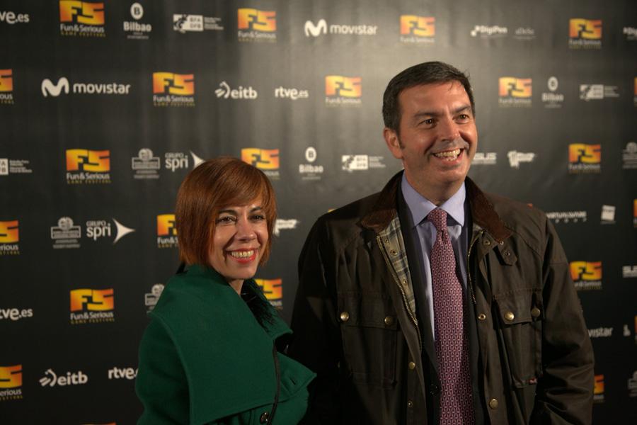 Lidia Pitzalis y Francisco Arteche de Microsoft
